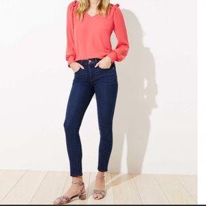 Nwt Loft Slim Pocket Skinny Crop Jeans Size 24 00